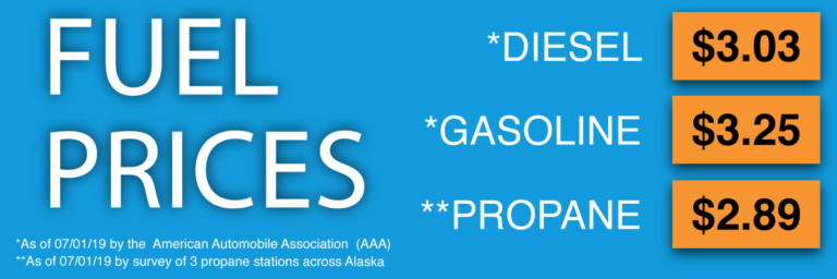 Alaskan Fuel Prices as of 7/01/19